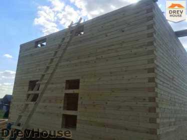 Строительство дома из бруса в коттеджном поселке Панорамы   фаза 19