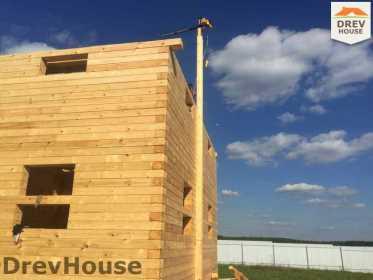 Строительство дома из бруса в коттеджном поселке Панорамы   фаза 20