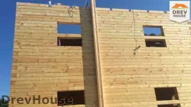 Строительство дома из бруса в коттеджном поселке Панорамы   фаза 21