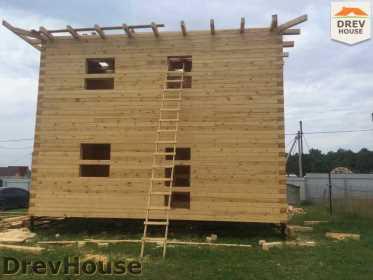 Строительство дома из бруса в коттеджном поселке Панорамы   фаза 22