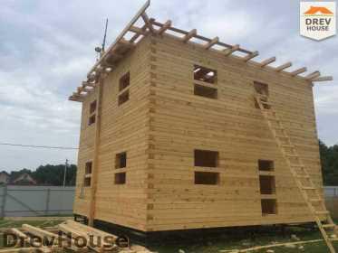 Строительство дома из бруса в коттеджном поселке Панорамы   фаза 23