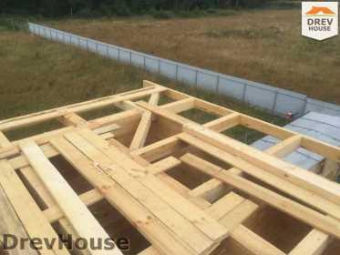 Строительство дома из бруса в коттеджном поселке Панорамы   фаза 24