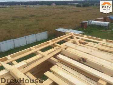 Строительство дома из бруса в коттеджном поселке Панорамы   фаза 25