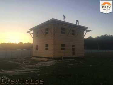 Строительство дома из бруса в коттеджном поселке Панорамы   фаза 28