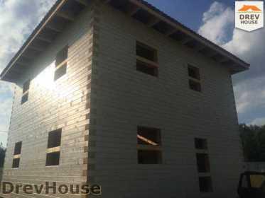 Строительство дома из бруса в коттеджном поселке Панорамы   фаза 31