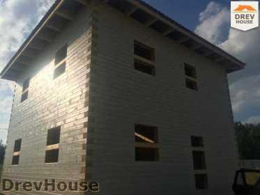 Строительство дома из бруса в коттеджном поселке Панорамы   фаза 32
