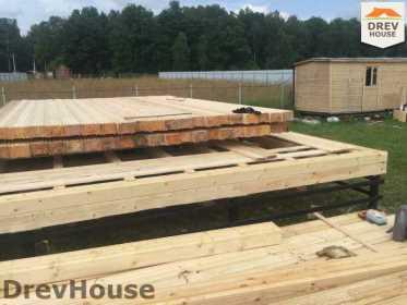 Строительство дома из бруса в коттеджном поселке Панорамы   фаза 4