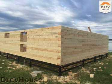 Строительство дома из бруса в коттеджном поселке Панорамы   фаза 5