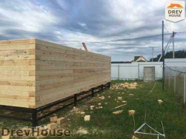 Строительство дома из бруса в коттеджном поселке Панорамы   фаза 6