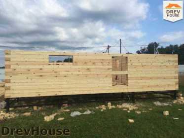 Строительство дома из бруса в коттеджном поселке Панорамы   фаза 7