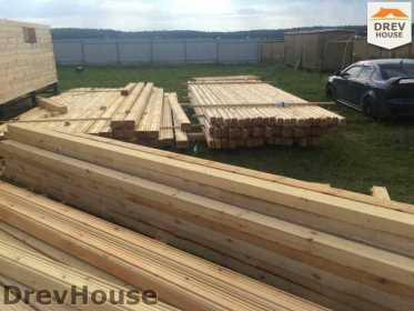 Строительство дома из бруса в коттеджном поселке Панорамы   фаза 8
