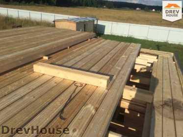 Строительство дома из бруса в коттеджном поселке Панорамы   фаза 9