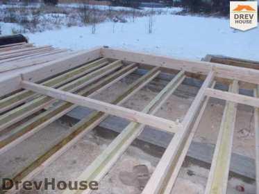 Строительство дома из бруса в поселке Чайковского   фаза 1