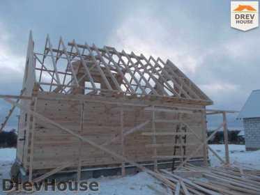 Строительство дома из бруса в поселке Чайковского   фаза 10