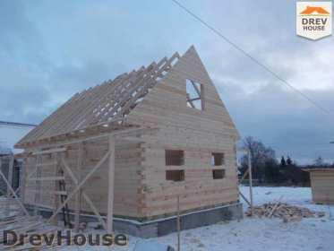 Строительство дома из бруса в поселке Чайковского   фаза 11