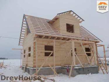 Строительство дома из бруса в поселке Чайковского   фаза 12