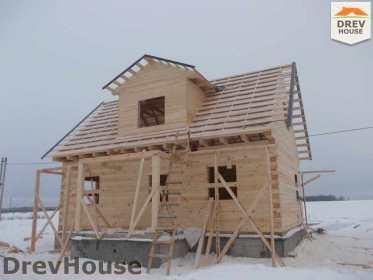 Строительство дома из бруса в поселке Чайковского   фаза 13