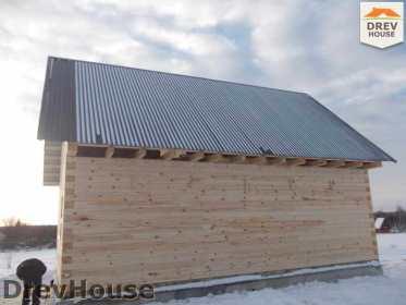 Строительство дома из бруса в поселке Чайковского   фаза 14