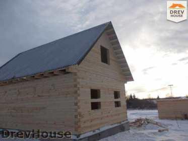 Строительство дома из бруса в поселке Чайковского   фаза 15