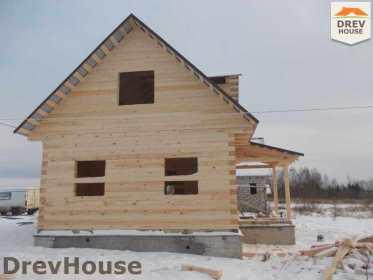 Строительство дома из бруса в поселке Чайковского   фаза 16