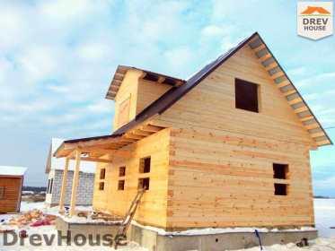 Строительство дома из бруса в поселке Чайковского   фаза 17