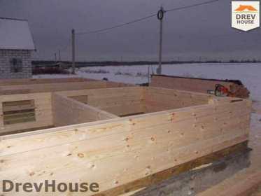 Строительство дома из бруса в поселке Чайковского   фаза 2