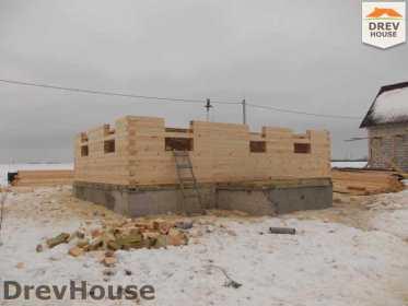 Строительство дома из бруса в поселке Чайковского   фаза 4