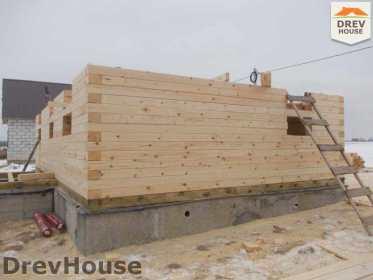 Строительство дома из бруса в поселке Чайковского   фаза 5