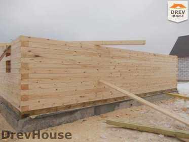 Строительство дома из бруса в поселке Чайковского   фаза 6