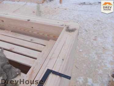 Строительство дома из бруса в поселке Чайковского   фаза 7