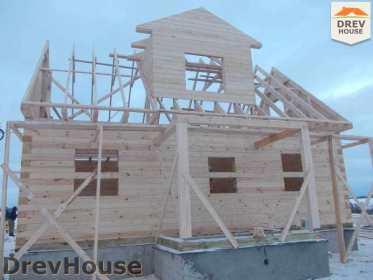 Строительство дома из бруса в поселке Чайковского   фаза 8