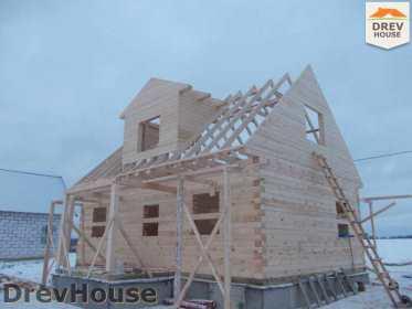 Строительство дома из бруса в поселке Чайковского   фаза 9