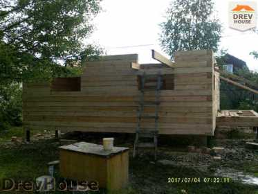 Строительство дома из бруса в поселке Дровосеки   фаза 1