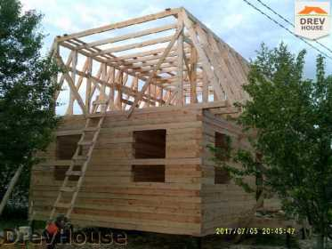 Строительство дома из бруса в поселке Дровосеки   фаза 10