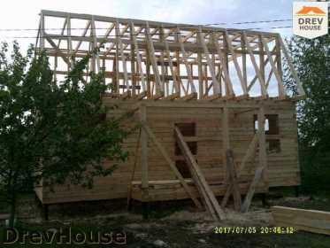 Строительство дома из бруса в поселке Дровосеки   фаза 11