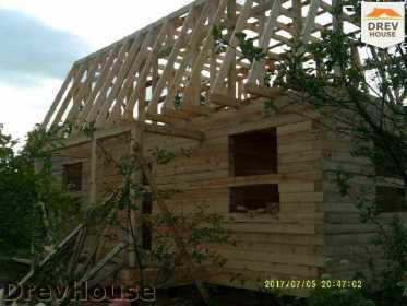 Строительство дома из бруса в поселке Дровосеки   фаза 12