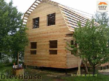 Строительство дома из бруса в поселке Дровосеки   фаза 13