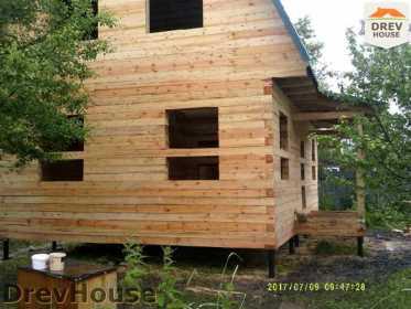 Строительство дома из бруса в поселке Дровосеки   фаза 14