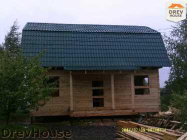Строительство дома из бруса в поселке Дровосеки   фаза 15