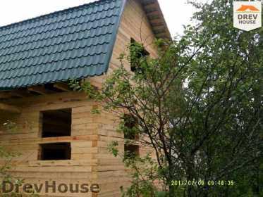 Строительство дома из бруса в поселке Дровосеки   фаза 16