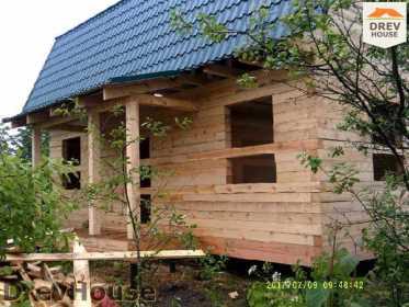 Строительство дома из бруса в поселке Дровосеки   фаза 17