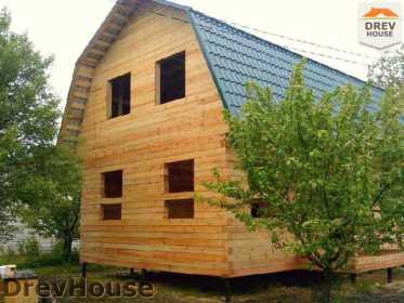 Строительство дома из бруса в поселке Дровосеки   фаза 18