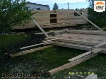 Строительство дома из бруса в поселке Дровосеки   фаза 2