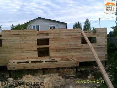 Строительство дома из бруса в поселке Дровосеки   фаза 3