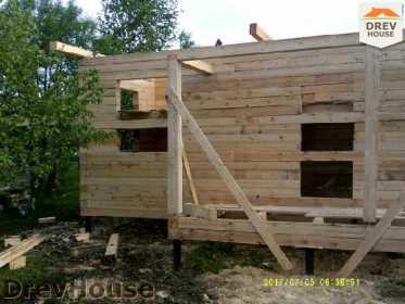 Строительство дома из бруса в поселке Дровосеки   фаза 5