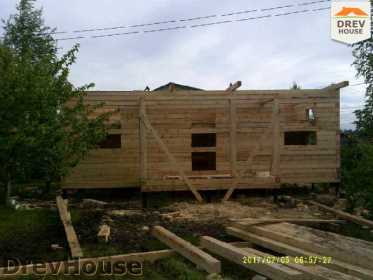Строительство дома из бруса в поселке Дровосеки   фаза 6