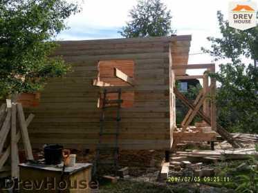 Строительство дома из бруса в поселке Дровосеки   фаза 7