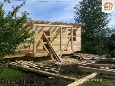 Строительство дома из бруса в поселке Дровосеки   фаза 8