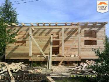 Строительство дома из бруса в поселке Дровосеки   фаза 9