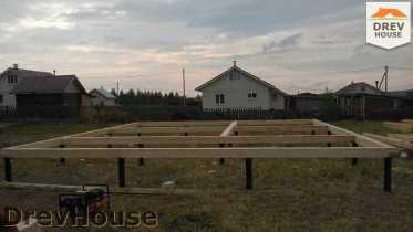 Строительство дома из бруса в поселке Иваньково   фаза 1